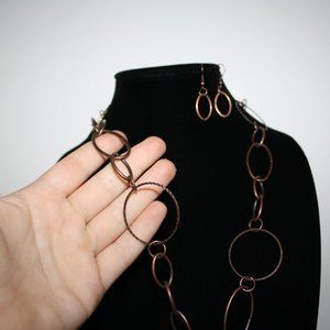Vintagejelyfish Jewelry - Beautiful nwot copper necklace and earring set